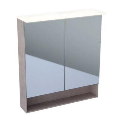 Geberit Acanto tükrös szekrény világítással, két ajtóval 75x83 cm 500.645.00.2